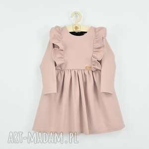 sukienka z falbanami i kokarda, falbanki, sukienkazkokarda, szyfonowa