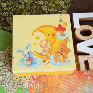 Maly Koziolek, pudełko drewniane - opowiastki księżyca - pokój dziecka, księżyc