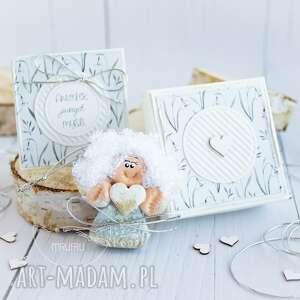 Aniołek jasnych myśli personalizowana kartka pudełeczko