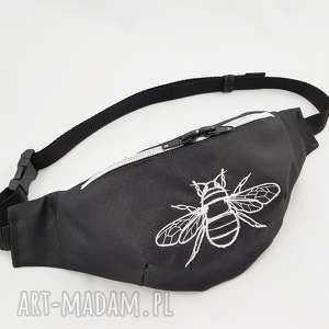 nerka pszczoła - ,nerka,pszczoła,wodoodporna,haft,biodrówka,torebka,