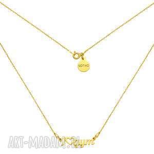 Złoty naszyjnik I Love Gym - ,naszyjnik,zawieszka,ilovegym,gym,sport,złoto,