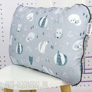 dla dziecka płaska poduszka do łóżeczka wilki, poduszka, płaska, niemowlaka