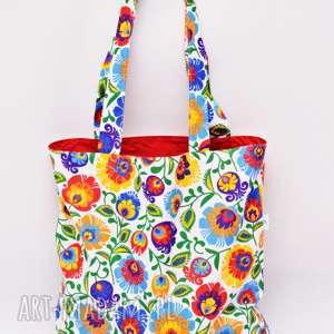 torba na zakupy shopperka ekologiczna zakupowa ramię bawełna łowicz