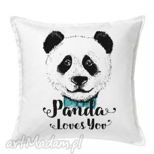 poduszka panda loves you, panda, poduszka, prezent, święta, nadruk, autorski