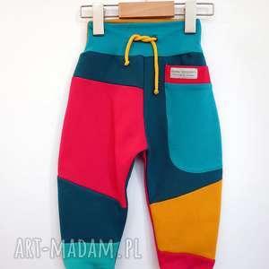 spodnie dziecięce patch pants 74 - 104 cm, dres dla dziecka, bawełniany