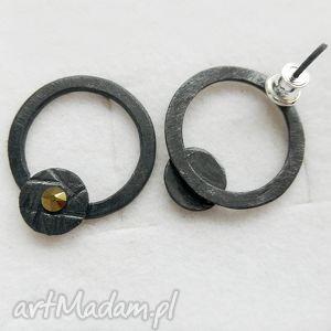 kolczyki okrąg kolczyki, srebro, swarovski biżuteria