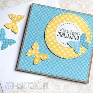 handmade kartki witaj na świecie maluszku: z okazji narodzin