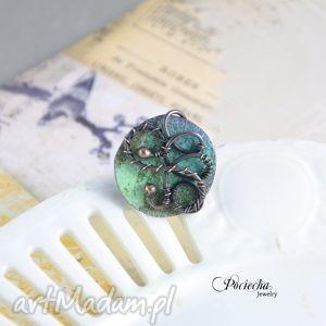 caerulus - pierścionek z emaliowaną miedzią