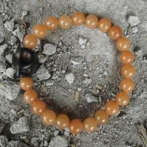 czaki bransoletka czaszka miodowa kamienie naturalne, bransoletka, czaszka