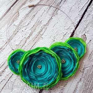 kwiatowa kolia naszyjnik z kwiatów - kwiaty, kolia, naszyjnik, biżuteria, modny