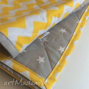 pokoik dziecka narzuta żółty zygzak 100x180cm, dziecięce, koc, narzuta, łóżko