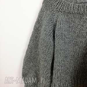 sweter basic no 2 - 100 wełna, wełniany, wełna, oversize, na drutach