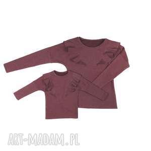 latori - komplet bluz dla mamy i córki lm14/3 ld14/3 bordo, bluza, mama, córka