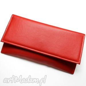 Prezent Kopertówka - czerwona, elegancka, nowoczesna, wizytowa, wesele, prezent