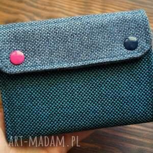 hand-made portfele materiałowy portfel - flamingi