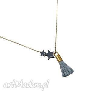 poplavsky naszyjnik star tassel srebro pozłacane, naszyjnik, pozłacany, gwiazdka