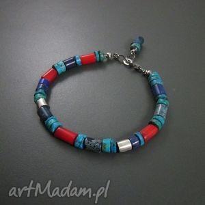 hand-made z korala i lapis lazuli