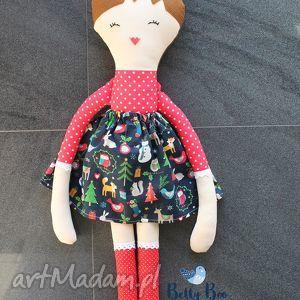 ogromna lalka, 75 centymetrów, czerwona ślicznotka, laleczka szmacianka, lala, lalka