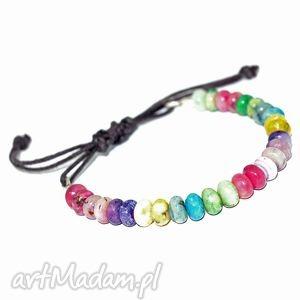 bransoletki bransoletka z opalem , opal, kolorowa, bransoletka, sznurek