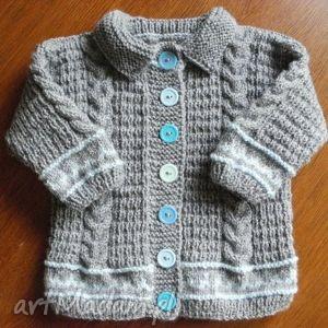 hand made sweterek szary żakiecik