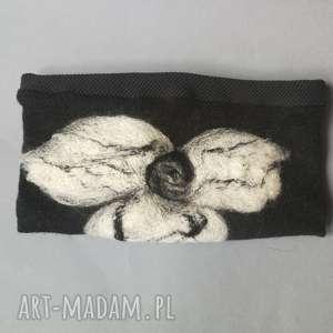 handmade opaski opaska wełniana filcowana damska - na podszewce, miła i ciepłą, szeroka