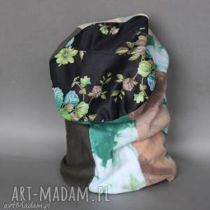 czapka damska wiosenna patchworkowa boho A1, wiosna, etno, kolorowa,