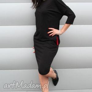 SUKIENKA DRESOWA OŁOWKOWA OVERSIZE, sukienka, oversize, dresowa, czarna,