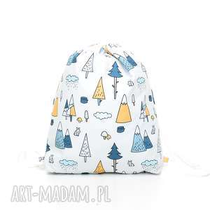 plecak worek przedszkolaka las - szare dla dziecka