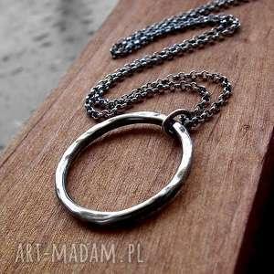 Naszyjnik z kółkiem większym - srebro 925 naszyjniki cocopunk