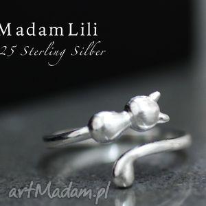 925 srebrny pierścionek kot - pierścionek, srebro, srebrny, kot, zwierzę