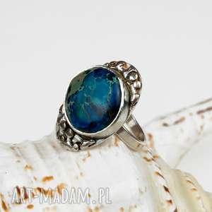 pierścionki kropla błękitu - pierścionek srebrny a565, pierścionek
