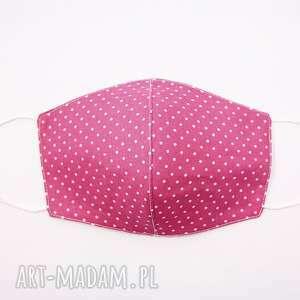maseczki maska bawełniana dwuwarstwowa maseczka ochronna na rower różowa