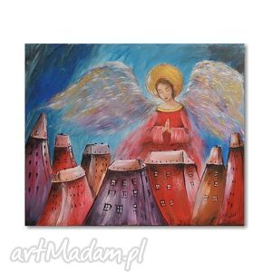 anioł stróż, obraz na płótnie, obraz, aniol, anioły, prezent, dekoracja