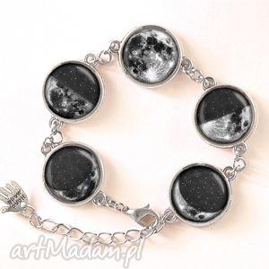 fazy księżyca - bransoletka, księżyc, kosmos, galaxy, pełnia, kaboszon, księżycowa