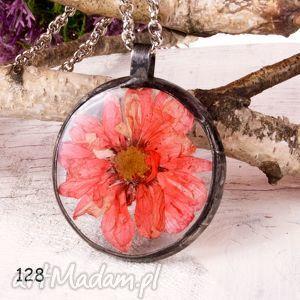 hand-made naszyjnik z suszonymi kwiatami terrarium tiffany 128