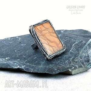 pierścień. Jaspis drzewny - kamieniem energii. Niezwykły pierścień świetny prezent dla kogoś