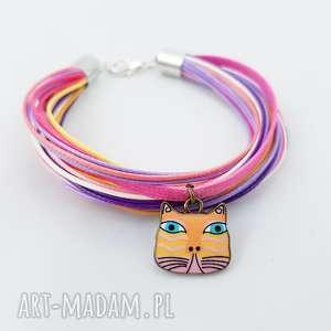 bransoletka etno cat - ,etno,bransoletka,kolorowa,kot,kotek,cat,