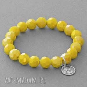 lavoga sunflower crystals with coin pendant - kryształek, zawieszka
