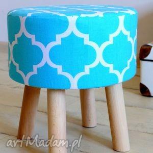 handmade dom stołek fjerne s (turkus koniczyna)