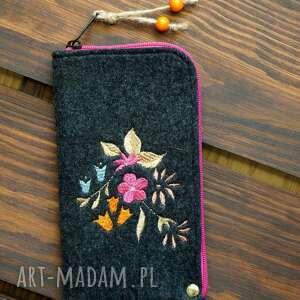 happyart filcowe etui na telefon - rajskie kwiaty, smartfon, pokrowiec, futerał