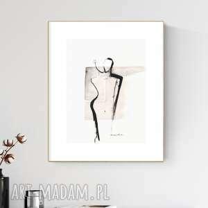 grafika 30x40 cm wykonana ręcznie, abstrakcja, obraz do salonu, 2617152