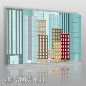 obraz na płótnie - budynki wieżowce 120x80 cm 25501 , budynki, wieżowce, rysunek