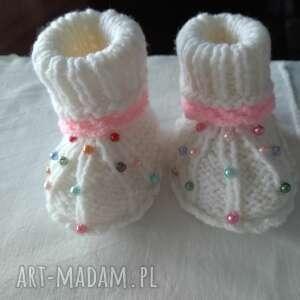 Wizytowe buciki niemowlęce tiny feet rękodzielo