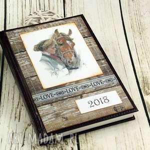 kalendarz książkowy 2018- przyjaźń, kalendarz, książkowy, terminarz, konie, koń