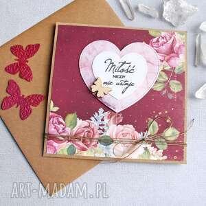 Miłość nigdy nie ustaje: kartka ślubna kartki kaktusia ślub