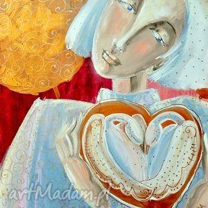 obrazy anioł stróż miłości, 4mara, obraz, sztuka, wydruk, prezent, miłość