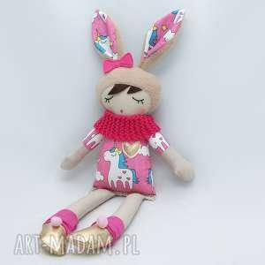 lalki lala przytulanka sonia śpioszka, 46 cm, lala, przytulanka, jednorożec