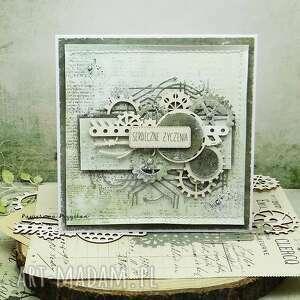 Serdeczne życzenia - męska kartka w pudełku kartki papierowa