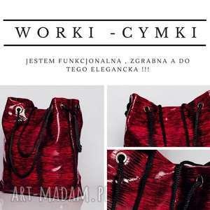 Duża tkaninowa torebka typu worek, etno, boho, podrozna, metaliczna, kolorowa