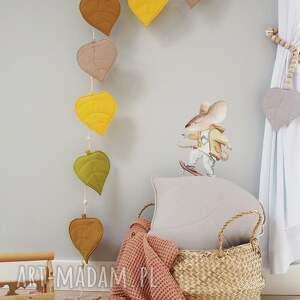 dekoracja jesienna girlanda listki, girlanda, liście, jesień